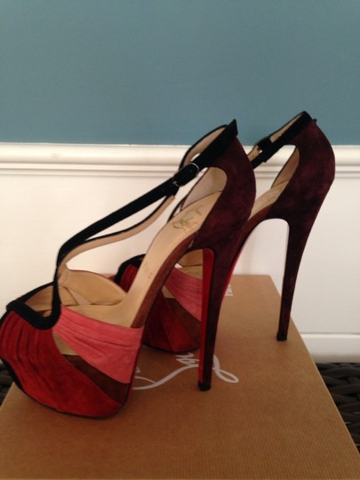 Christian Louboutin Multi - Brown, Red, Maroon, Pink And Black Pumps