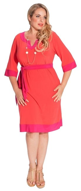 Igigi short dress Fuchsia/Coral Bermuda 18/20 Tunic on Tradesy