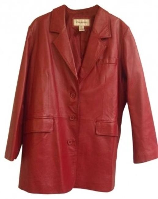 Preload https://item1.tradesy.com/images/veranesi-red-leather-blazer-size-24-plus-2x-134870-0-0.jpg?width=400&height=650