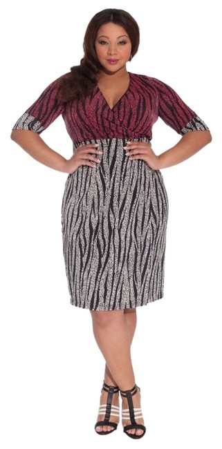 Igigi 18/20 Empire Waist Faux Wrap Dress