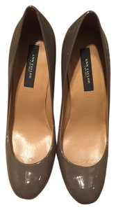 Ann Taylor Patent Taupe Pumps