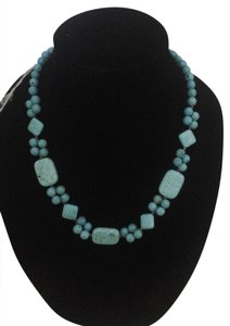 NEW Genuine Turquoise Stone Handcrafted Necklace