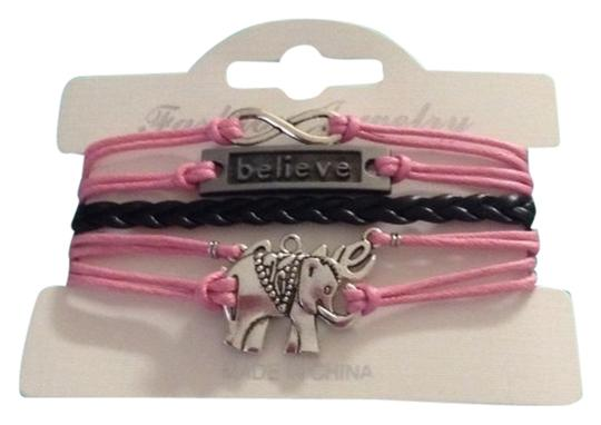 no brand Believe, love, elephant bracelet