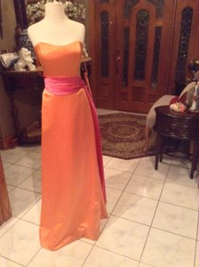 Raylia Designs Sunset/ Hot Pink 8300z Bridesmaids Or Formal Dress