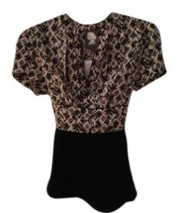 Anthropologie Top black and white