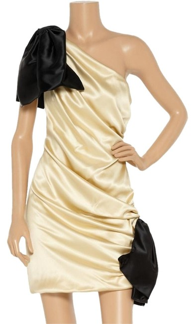 Preload https://img-static.tradesy.com/item/1348941/dolce-and-gabbana-gold-and-black-shoulder-mid-length-cocktail-dress-size-6-s-0-1-650-650.jpg