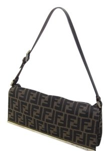 Fendi Zucca Satchel Tote Canvas Shoulder Bag