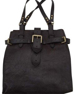 Mulberry Leather Tote in Chocolate Brown