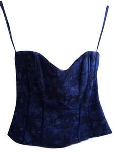 White House | Black Market Bustier Sexy Top Purple