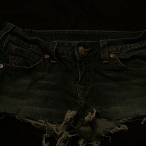 True Religion Mini/Short Shorts Blue jean