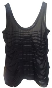 Silence + Noise Sheer Top black