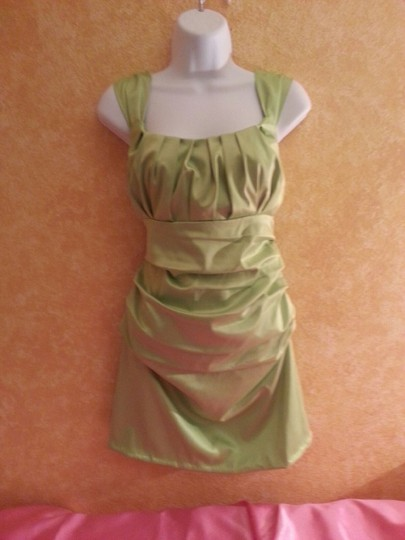 755d12ac9ce4 delicate Lime Green Ultra Sexy Brand New Green Ruched Mini Dress 42% Off  #13489843