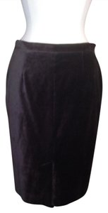 Moschino Velvet Size 8 Skirt Brown