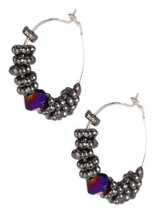 Betsey Johnson Betsey Johnson Beaded Hoop & Mismatched Lips Stud Earrings Set Pink