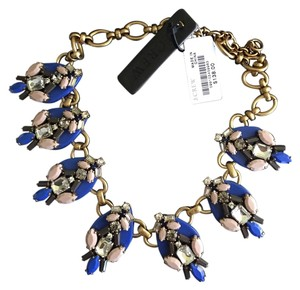 J.Crew J Crew Multi Stone drop crystal necklace blue pink