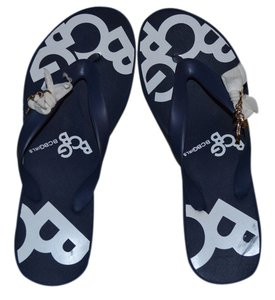 BCBGMAXAZRIA Blue/white Sandals
