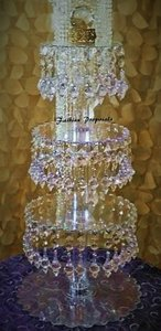 Crystal Clear Cupcake Tower 4 Tiers Acrylic Cupcake Stand Hanging Cupcake Tower Cake Topper