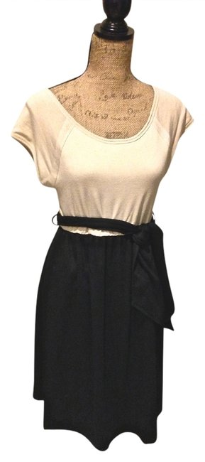 Item - Beige & Black And with Sash Maternity Dress Size 12 (L, 31, 32)