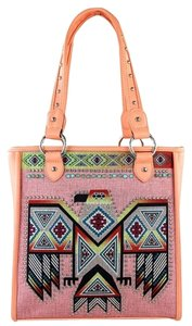 Montana West Conceal Pocket Tote in Pink & Coral
