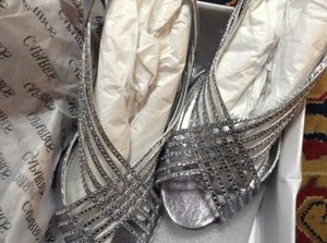 Caparros Shoes-size-9-5-silver-by-caparros Ladies-designer-dress-shoes-size-9-5-silver-by-caparros Have One To Sell? Sell Now Wedding Shoes