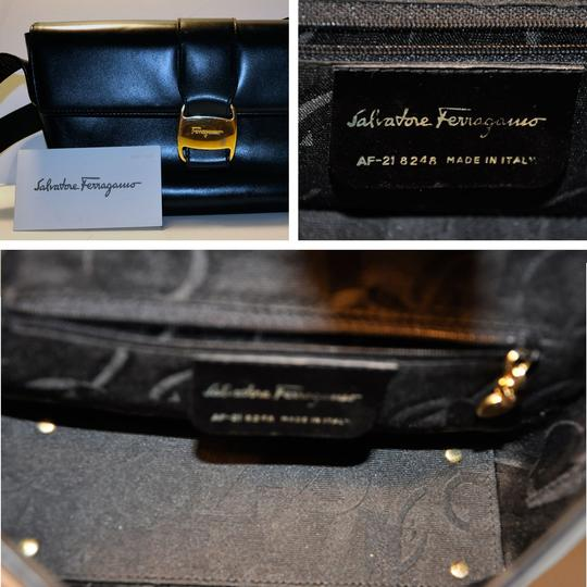 Salvatore Ferragamo Vintage Midnight Black Shoulder Bag