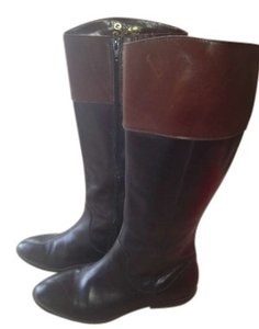 Seychelles 7.5 Riding Leather Quality Comfortable Very On Trend Zipper Equestrian Designer Black and Brown Boots
