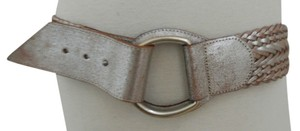 Linea Pelle Metallic wash Woven leather belt