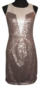 Antonio Melani Sequin Gold Party Short Dress