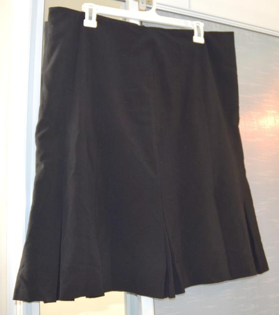 AGB Zipper Office Career Social Event A-line Women Misses Pleated Pleated Hem Macy's Skirt black