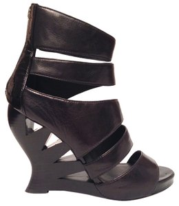 Donald J. Pliner Sexy Wedge Bootie Edgy Black Sandals