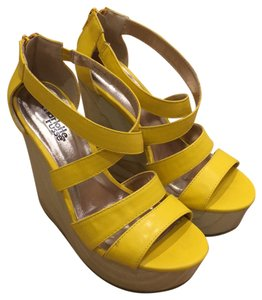 Charlotte Russe Yellow Wedges