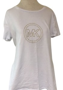 MICHAEL Michael Kors T Shirt White/ Gold