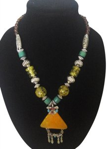Other Exotic Fashion Jewelry Multi Color Necklace- Bohemian