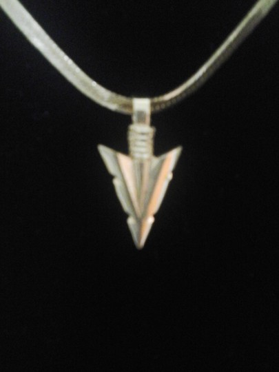 Other Gold Arrowhead Pendant with Matching Flat Snake Chain Necklace Image 1