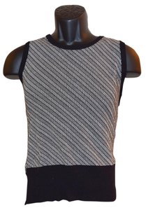 Preload https://item1.tradesy.com/images/alfani-black-and-white-womens-knitted-large-stretchy-vest-size-14-l-1349290-0-0.jpg?width=400&height=650