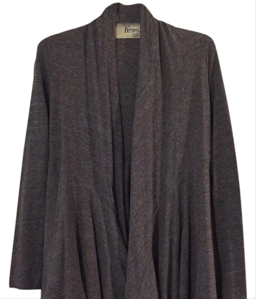 Fluxus Heather Grey Bias Cardigan Size 4 (S) from SH on Tradesy