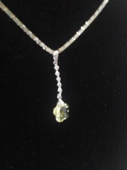 Other Yellow Flower with Six Cubic Zirconia Pendant Image 2
