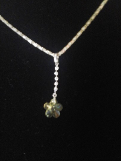 Other Yellow Flower with Six Cubic Zirconia Pendant Image 3