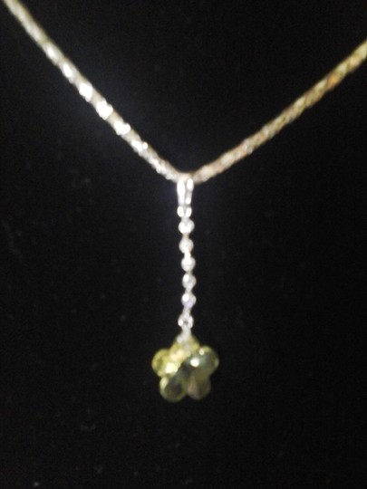 Other Yellow Flower with Six Cubic Zirconia Pendant Image 4