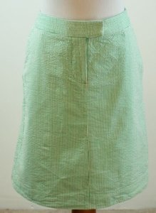 Kenar Seersucker Skirt Green