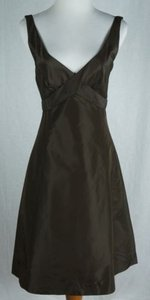 J.Crew Delores Silk Taffeta Chocolate Dress
