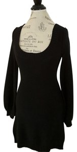 Susana Monaco short dress Black Sweater Winter Cotton Bell Sleeves on Tradesy