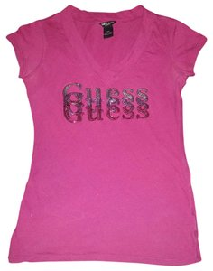 Guess Sequin Bling Ombre T Shirt purple
