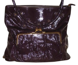 Goldenbleu Luella Made In Italy Tote in Amethyst Eggplant Purple