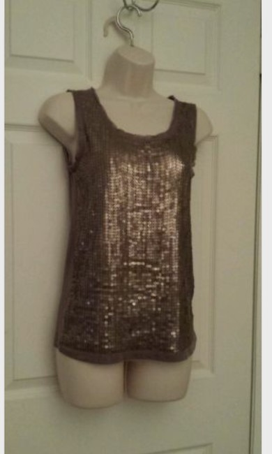 Ann Taylor LOFT Sequin Cotton Linen Tunic