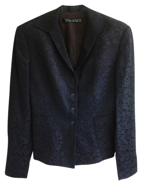 Preload https://item3.tradesy.com/images/tahari-brown-and-blue-blazer-size-2-xs-1349457-0-0.jpg?width=400&height=650