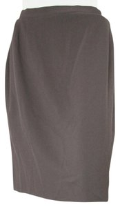 Joseph Abboud Wool 6 Green Brown Womens Small 4 S Skirt olive