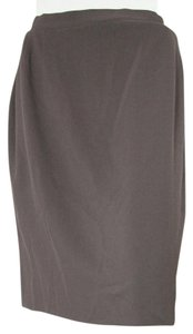 Joseph Abboud 100% Wool 6 Green Brown Womens Small 4 S Skirt olive