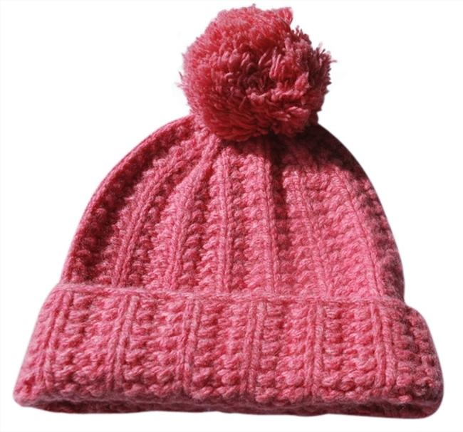 Item - Pink New Women Wool Cable Knit Beanie Cap A&f Ski Rate Hat