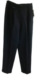 Ralph Lauren Cuffed Hem Straight Legged Straight Pants Black
